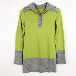 Anthropologie | Free People Tunic Lime Green Sz S